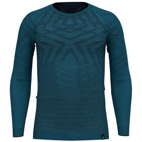 Odlo Suw Natural + Kinship Undertøj Herrer, blue coral melange